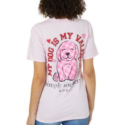 Simply Southern Juniors My Dog Is My Valentine T-Shirt