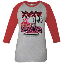 Simply Southern Juniors XOXO Y'All Raglan Top