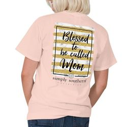 Simply Southern Juniors Blessed To Be Called Mom T-Shirt