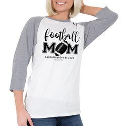 Simply Southern Juniors Football Mom Raglan Top