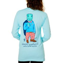 Simply Southern Juniors Ocean Lives Matter Long Sleeve Top