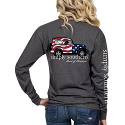 Simply Southern Juniors Land Of Awesome Long Sleeve Top