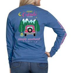 Simply Southern Juniors Think Outside Long Sleeve Top