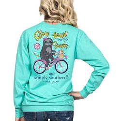 Simply Southern Juniors Slow Down Live Life Long Sleeve Top