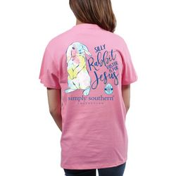 Simply Southern Juniors Silly Easter Rabbit T-Shirt