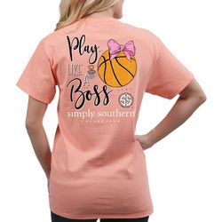 Simply Southern Juniors Play Like A Boss Basketball T-Shirt