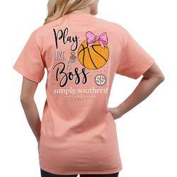 Simply Southern Juniors Play Like A Boss Basketball T-Shirt