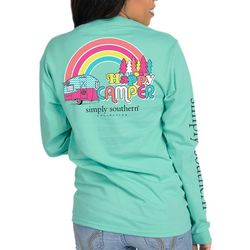 Simply Southern Juniors Happy Camper Long Sleeve Top