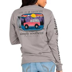 Simply Southern Juniors Life Is An Adventure Long Sleeve Top