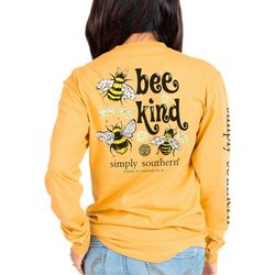 Simply Southern Juniors Bee Kind Long Sleeve Top