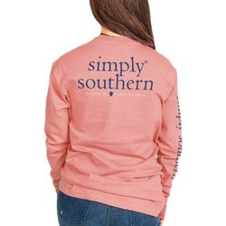 Simply Southern Juniors Logo Graphic Long Sleeve Top