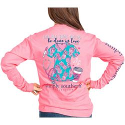 Simply Southern Juniors Done In Love Long Sleeve Top