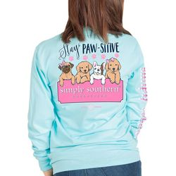 Simply Southern Juniors Stay Pawsitive Long Sleeve Top