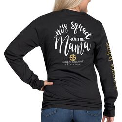Simply Southern Juniors Squad Calls Me Mama Long Sleeve Top