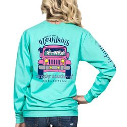 Simply Southern Juniors Faith Move Mountains Long Sleeve Top