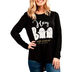 Simply Southern Juniors Hey Boo Long Sleeve Top