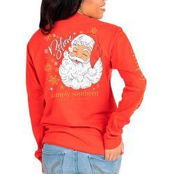 Simply Southern Juniors Believe Santa Long Sleeve Top