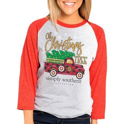 Simply Southern Juniors Oh Christmas Tree Truck Graphic Top