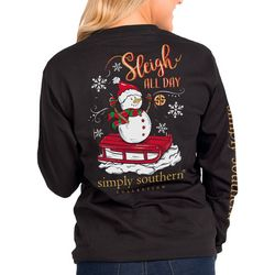Simply Southern Juniors Sleigh All Day Long Sleeve Top