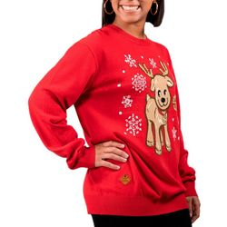Simply Southern Juniors Reindeer Knit Long Sleeve Sweater
