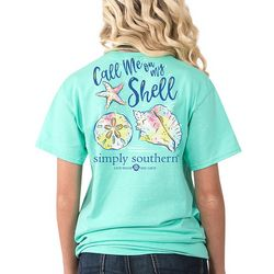 Simply Southern Juniors Call Me On My Shell T-Shirt