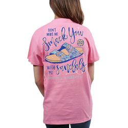Simply Southern Juniors Smack You With My Sandals T-Shirt