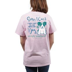 Simply Southern Juniors I Have Got Plans With My Dog T-Shirt