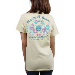 Simply Southern Juniors Plaids & Bows Crab T-Shirt