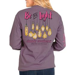 Simply Southern Juniors Be The Light Long Sleeve Top