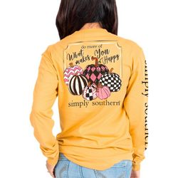 Simply Southern Juniors What Makes You Happy Long Sleeve Top