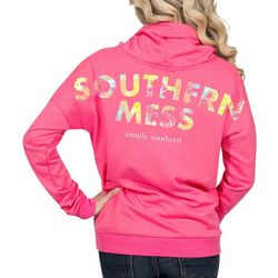Simply Southern Juniors Southern Mess Hooded Sweatshirt