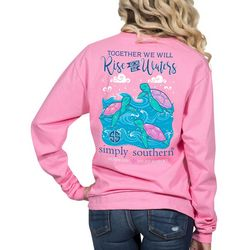 Simply Southern Juniors Rise Above Waters Long Sleeve Top