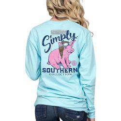 Simply Southern Juniors Piggy Pilot Long Sleeve Top