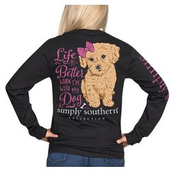 Simply Southern Juniors Life Better With Dog Long Sleeve Top