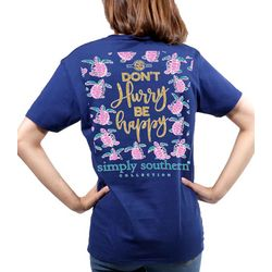 Simply Southern Juniors Don't Hurry Be Happy T-Shirt