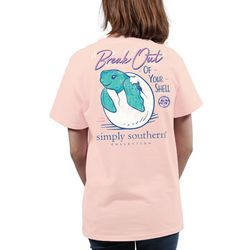 Simply Southern Juniors Break Out Of Your Shell T-Shirt
