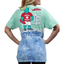 Simply Southern Juniors Rescue Turtle Tie Dye T-Shirt