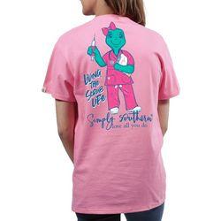 Simply Southern Juniors Living The Scrub Life T-Shirt