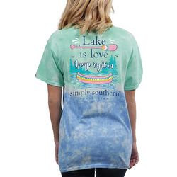 Simply Southern Juniors Lake Is Love Tie Dye T-Shirt