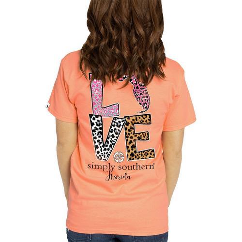 7aa68d697c6c Simply Southern Juniors Leopard Print Love Florida T-Shirt | Bealls Florida