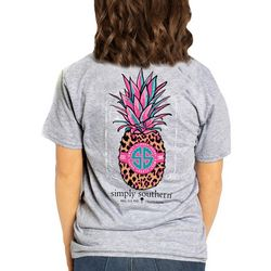 Simply Southern Juniors Animal Print Pineapple T-Shirt