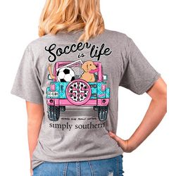 Simply Southern Juniors Soccer Is Life T-Shirt