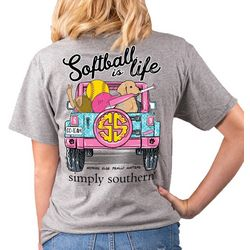 Simply Southern Juniors Softball Is Life T-Shirt