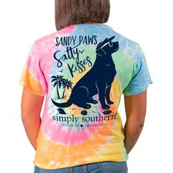 Simply Southern Juniors Sandy Paws Salty Kisses T-Shirt