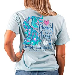 Simply Southern Juniors Mermaid At Heart T-Shirt