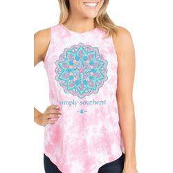 Simply Southern Juniors Tropical Compass Sleeveless T-Shirt
