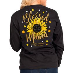 Simply Southern Juniors Blessed Mama Long Sleeve T-Shirt