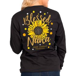 Simply Southern Juniors Blessed Nana Long Sleeve T-Shirt