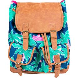 Simply Southern Juniors Palm Tree Print Buckled Backpack