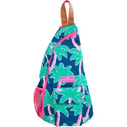 Simply Southern Palm Tree Print Sling Backpack